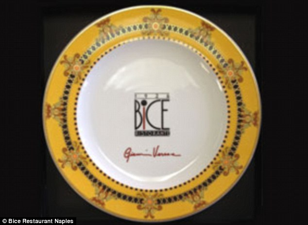 Added bonus: After eating the $2,013 meal diners will be able to take home the limited-edition gold leaf platter, designed by the late fashion mogul Gianni Versace