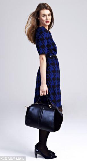 Tweed dress, £139, boden.co.uk, Belt, £60, lkbennett.com, Necklace, £14.99, hm.com, Shoes, £99, boden.co.uk, Bag, £69, Deaux Lux at fenwick.co.uk