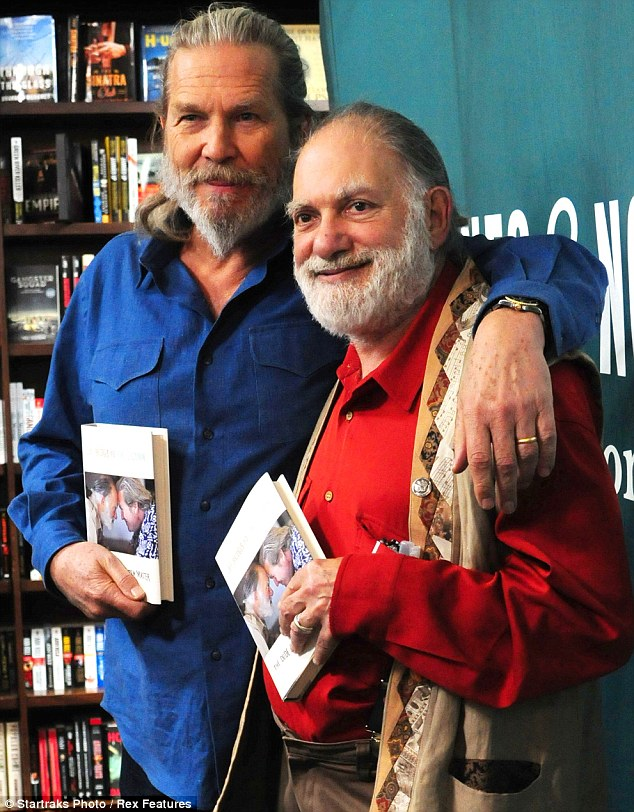 Building Bridges: Jeff and Bernie were kept busy as they later attended a signing session to promote the tome