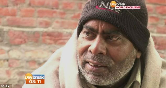 Outspoken: Mr Singh spoke to ITV1's Daybreak show in India this morning. He said that he hopes his daughter's death will 'awaken' the country