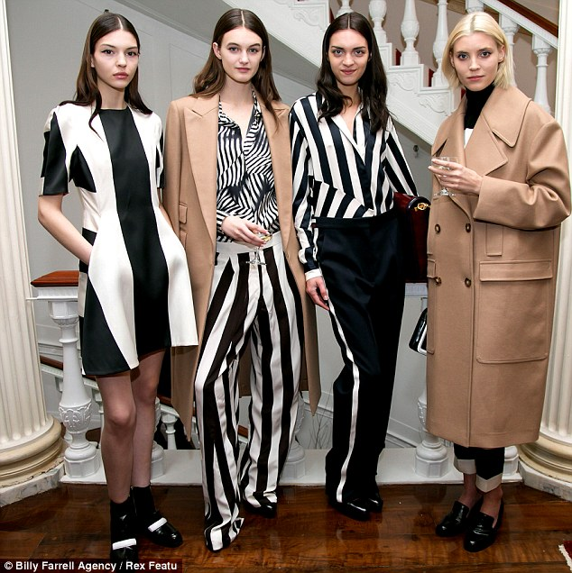 Trends: Black and white and camel seemed to feature heavily