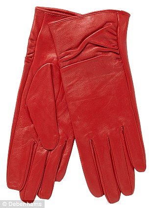 Red leather gloves such as this £26 John Rocha pair are flying off the shelves at Debenhams