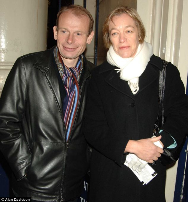Andrew Marr, pictured here with his wife Jackie Ashley, was rushed to hospital after suffering a stroke