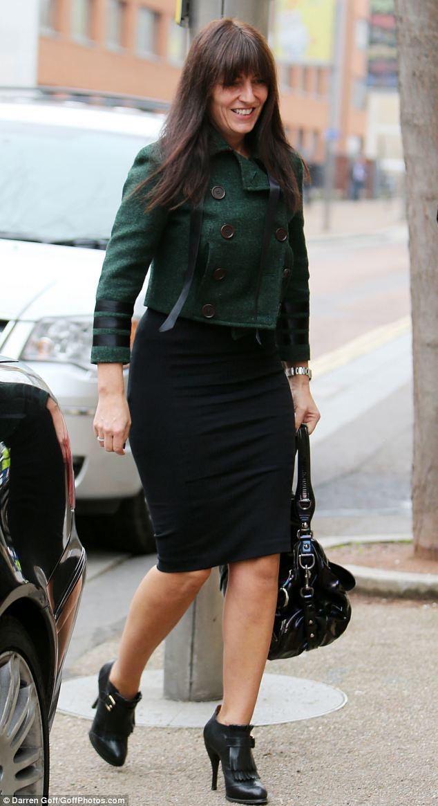 Super slim: The TV presenter owes her enviably slim figure to a strict fitness regime
