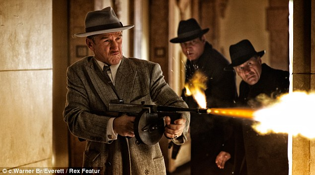 Shoot-out: Sean Penn in Gangster Squad - a film based on a group of LA police officers who did whatever it took to combat crime