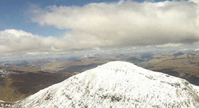 The pictures show the mountain getting ever closer as the pilot struggled to regain control in strong winds