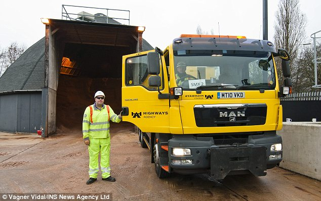 Busy: The Highways Agency anticipates a hectic weekend minimising the damage of the snow