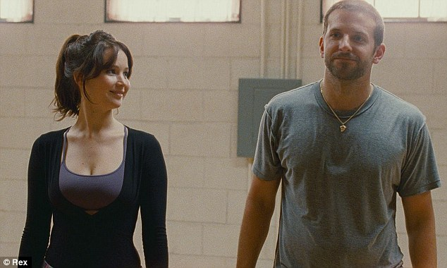 On screen chemistry: Jennifer Lawrence and Bradley Cooper have both been nominated for their roles in Silver Linings Playbook
