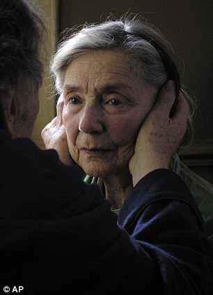 """This image released by Sony Pictures Classics shows Emmanuelle Riva in a scene from """"Amour."""
