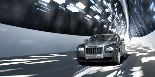 Luxury: Prices for the 'entry-level' Rolls-Royce Ghost model (pictured) start at £198,000