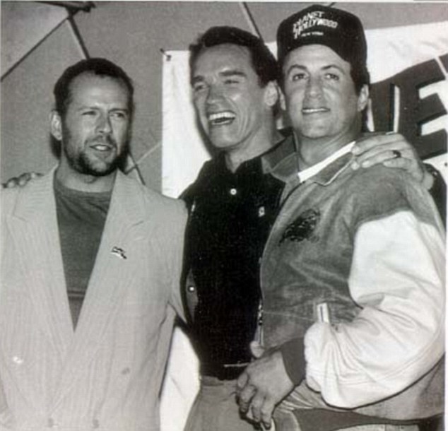 The way they were: Bruce Willis, Arnold Schwarzenegger and Sylvester Stallone