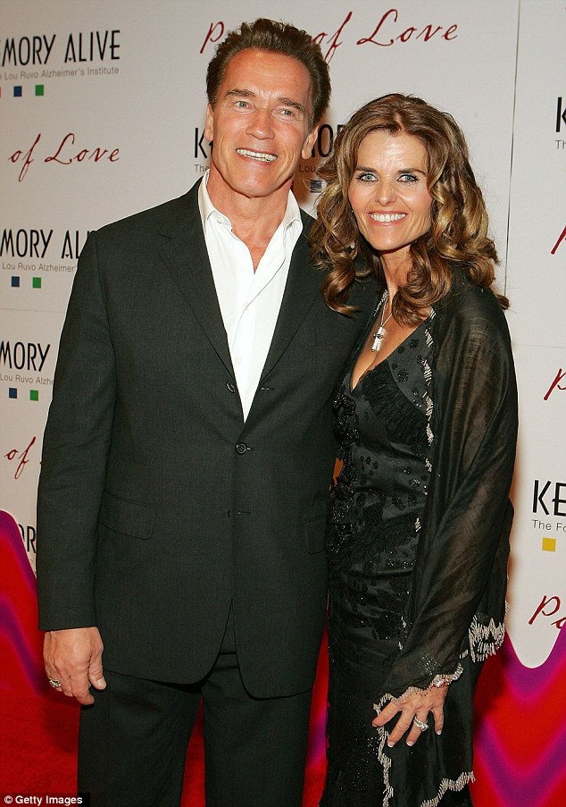 Married with children: Arnold and his wife Maria Shriver were thought to have one of the strongest unions in Hollywood