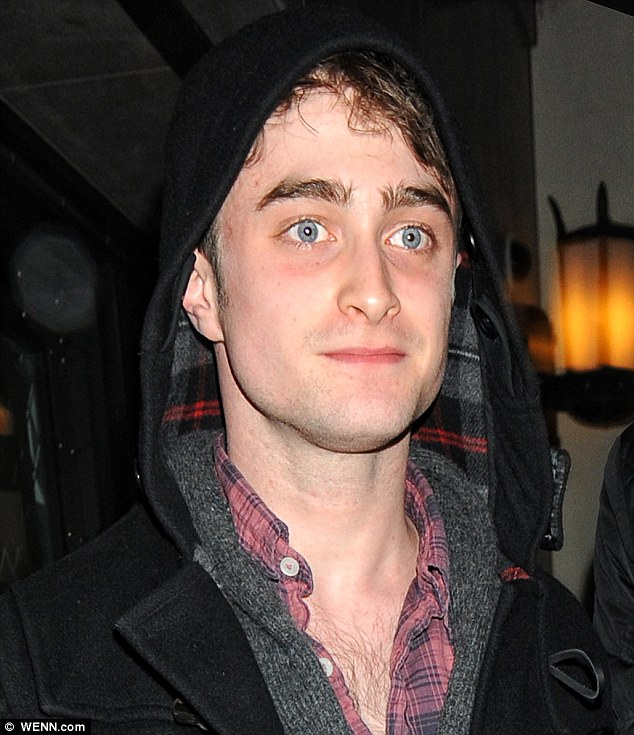 Blue-eyed boy: Daniel's eyes looked particularly blue as he left the venue with Stephen
