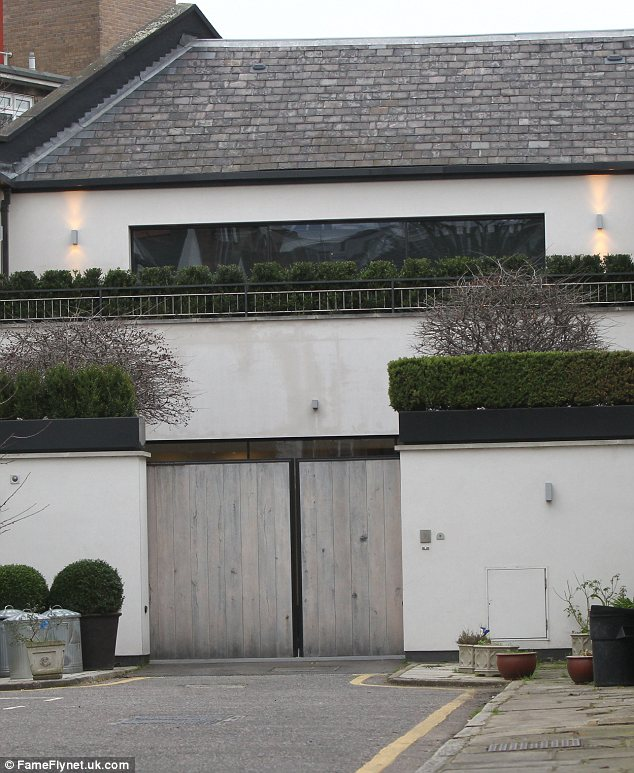 Swanky pad: David Beckham is renting a £20million home in South London