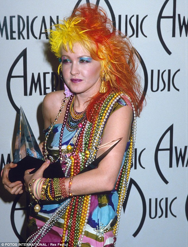 Vibrant heyday: Cyndi at the American Music Awards in 1985