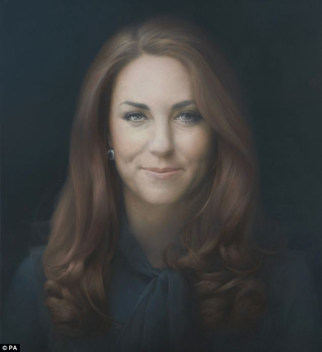 The Duchess attended the gallery for the unveiling of the first official portrait of her painted by Paul Emsley