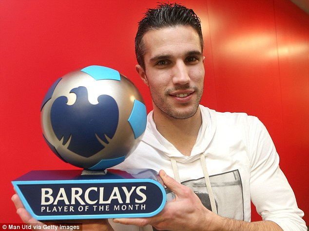 Star man: RVP was named player of the month for December after netting five goals in six games for United