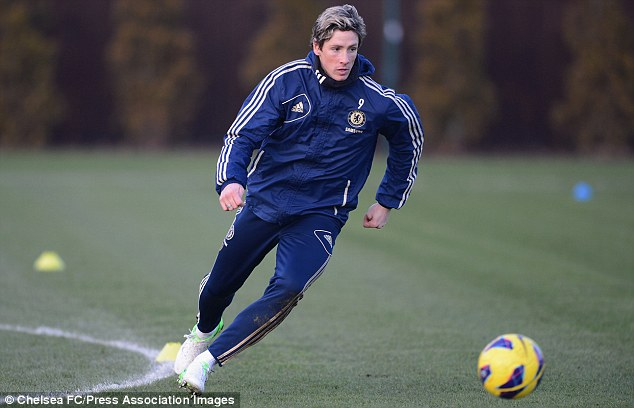 Eye on the ball: Torres was forced to take tablets after suffering from a stomach bug in midweek