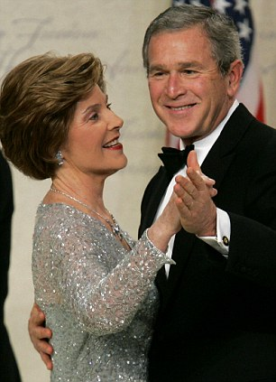 Parents: Former President George W Bush and his wife Laura in 2005