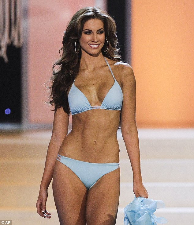 Stunning: Katherine Webb competes in the swimsuit competition during the 2012 Miss USA pageant in Las Vegas