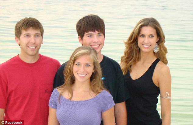 Good looking family: Katherine Webb, her sister Laurie, and her brothers David and Matthew