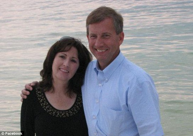Proud dad: Alan Webb with his wife Leslie