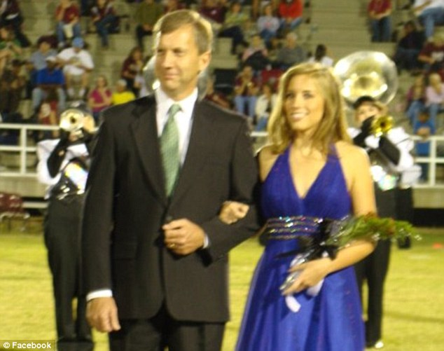 Homecoming beauty: Laurie Webb, the younger sister of Miss Alabama, was on her high school's Homecoming Court