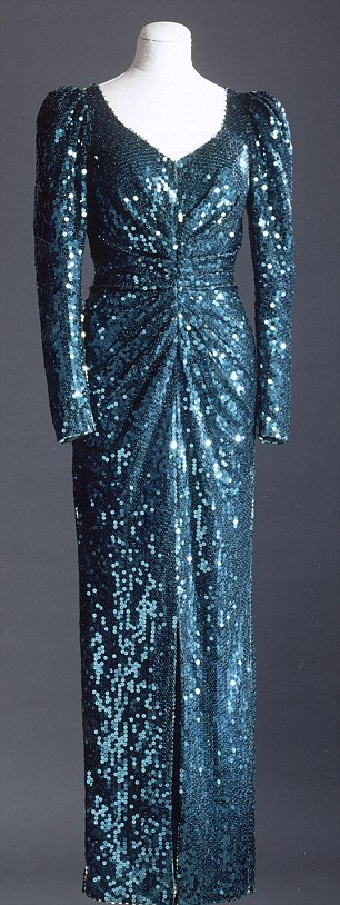This dress was designed by Catherine Walker in 1986, and worn by Diana, Princess of Wales during a state visit to Vienna in 1986 and to a film premiere in 1993