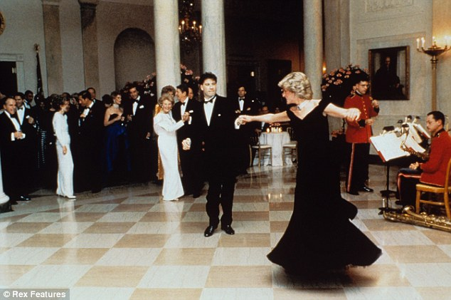 Another dress bought by Maureen Dunkel in 1997 was the famous blue slik gown designed by Victor Edelstein worn by the Princess in which she danced with John Travolta at a dinner at the White House in 1985