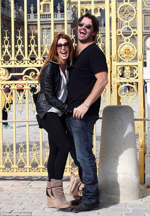 City of love: Poppy and her baby daddy Shawn enjoyed a romantic trip to Paris in September and got to see the Chateau de Versailles