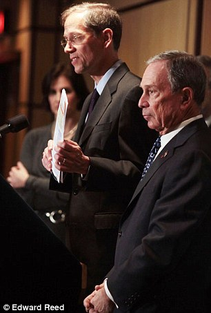 Crackdown: Mayor Michael Bloomberg announced the crackdown on prescription drugs in New York on Thursday at a press conference, pictured