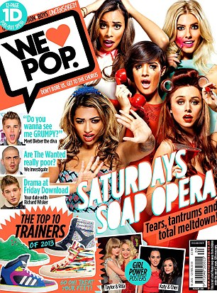 Cover stars: The girls appear in this month's We Love Pop