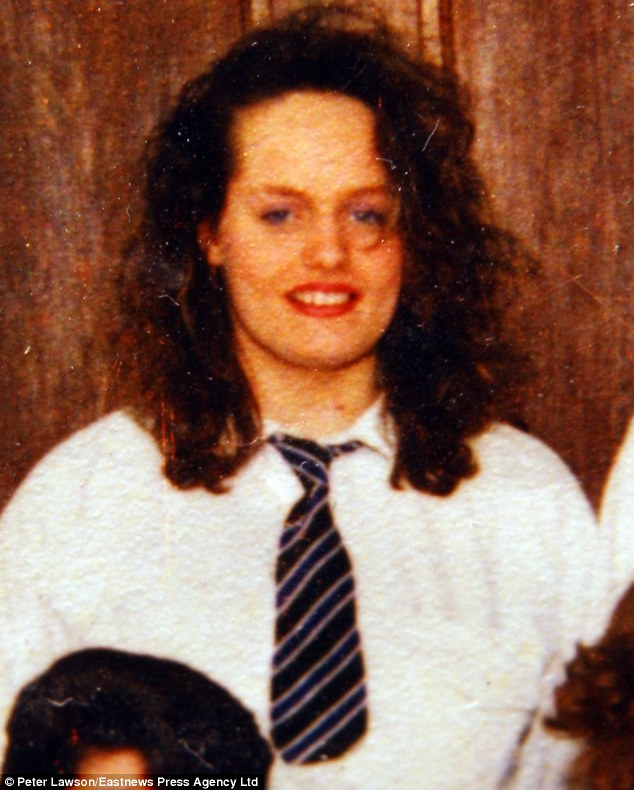 Haunted by her past: Tina Renton at the age of 15 in 1990, when she was sleeping under lock and key so her stepfather wouldn't be able to get into her bedroom at night