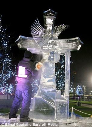 An Ice sculptor