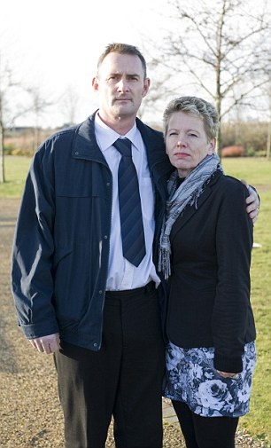 So sad: Richard and his second wife Trudi. His relationship with Laura and Adam has 'all gone'