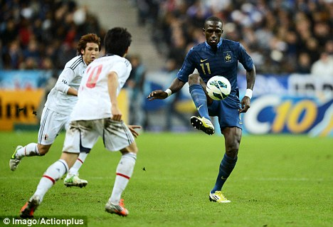 Sunderland-bound? Moussa Sissoko in action for France against Japan last year