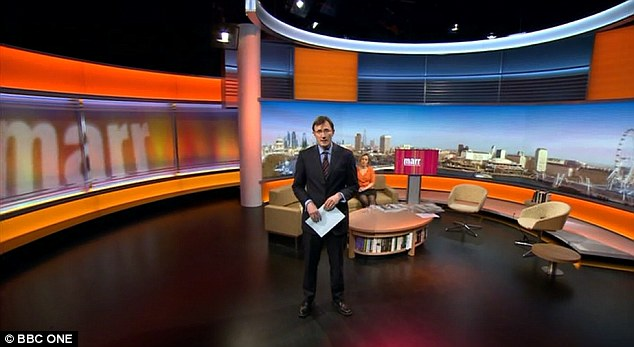 Good morning: BBC News deputy political editor James Landale presented The Andrew Marr Show this morning and introduced it by saying 'it would of course be a much better morning if Andrew were here'