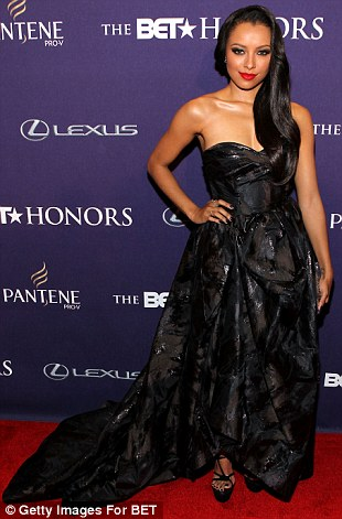 Gorgeous gowns: Presenter Kat Graham and Robi Reed