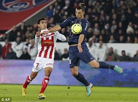 Strike partner: Falcao spoke of his admiration of PSG frontman Zlatan Ibrahimovic