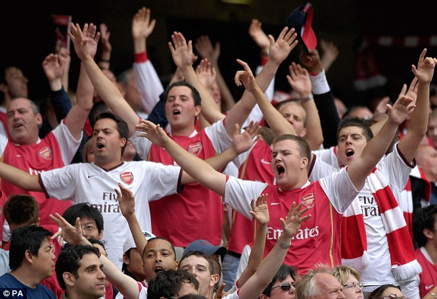 Money talks: Some sections of home fans at Arsenal have been asked to pay up to £126 for a ticket