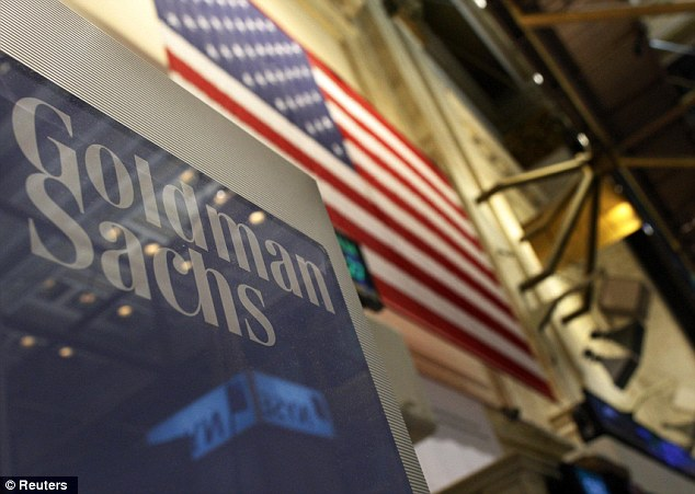 Staggering: Bankers at Goldman Sachs are expected to share £8.3billion in bonuses