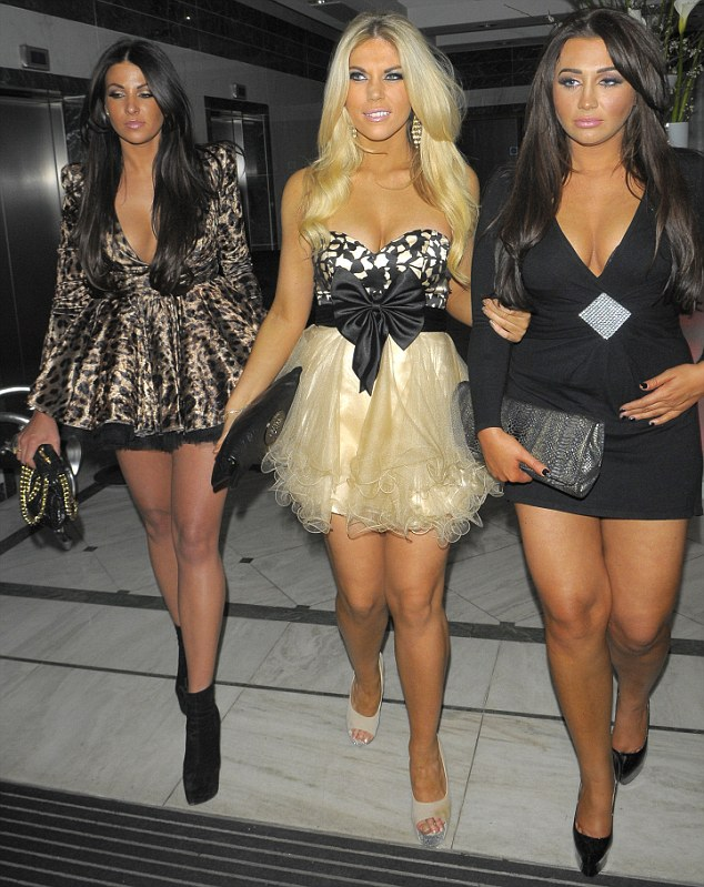 Court appearance: Cara Kilbey (far left) will face magistrates on February 1 (pictured here with Frankie Essex and Lauren Goodger)