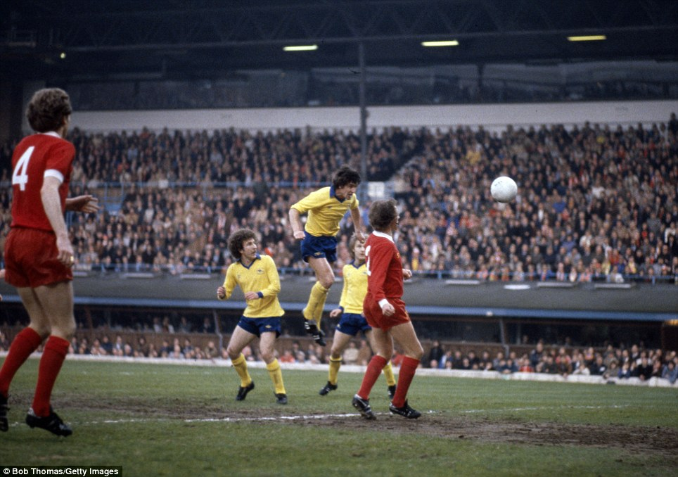 Where did the colour come from? I don't need to explain how this picture leapt out a me, as Arsenal's Brian Talbot heads the goal that was finally decisive