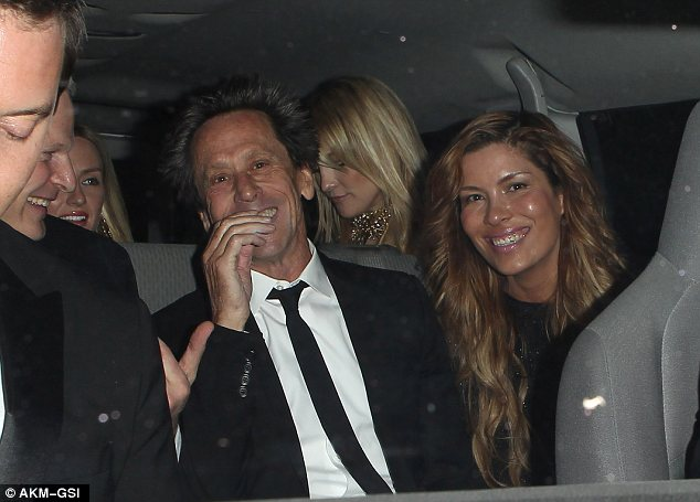 Continuing the fun: The group were seen climbing into a mini-bus to continue the celebrations