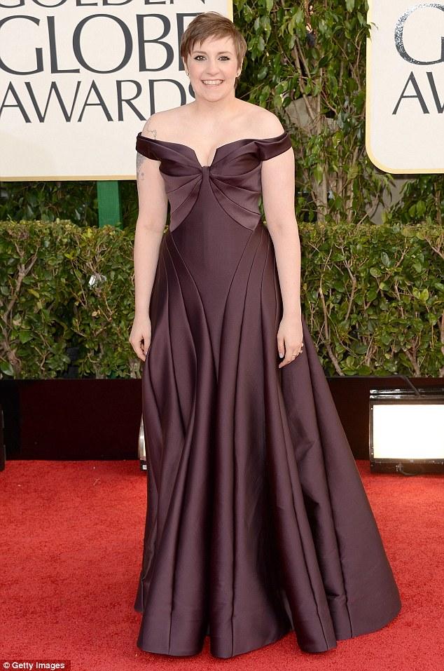 Dark and steamy: Lena chose a sexy Zac Posen dress for the red carpet