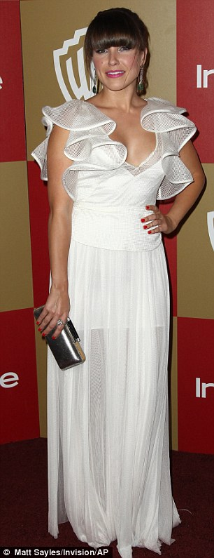 White hot: Sophia Bush and Lea Michele wowed in their white attire