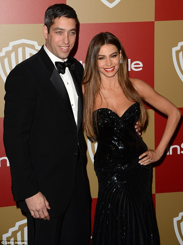 Happy together: After their New Year's argument Sofia Vergara and Nick Loeb looked happier than ever