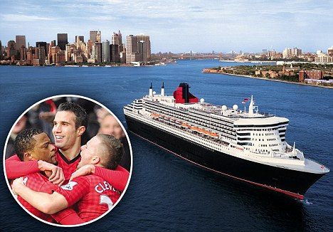 All at sea: Seven boats in the P&O luxury cruise liner fleet will screen live Premier League football to their holidaymakers next season