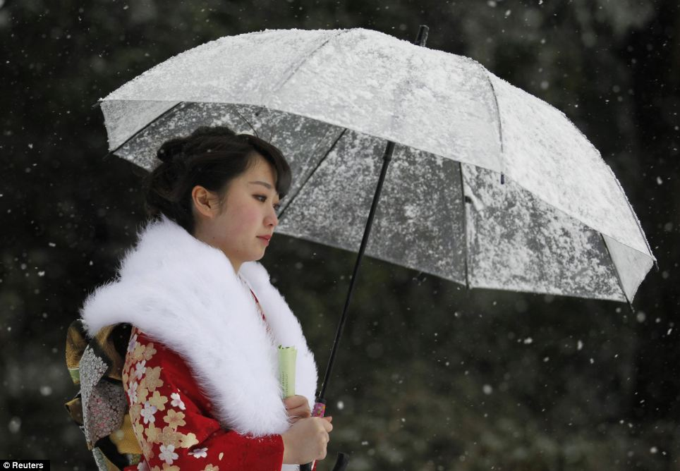 Perfect poise: A soft and wistful look is more tradition for the day, honoured by Japanese people across the country