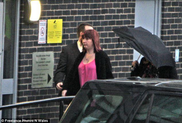 Coral Jones, the mother of missing schoolgirl April Jones arrives at Mold Crown Court yesterday morning to hear Bridger enter his plea